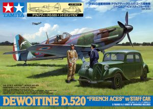 โมเดลเครื่องบิน ทามิย่า Dewoitine D.520 French Aces 4