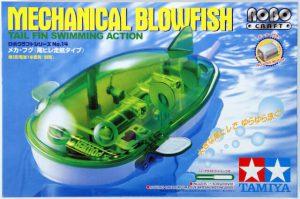 ชุดประกอบหุ่นยนต์ปลาว่ายน้ำ โดยการสบัดครีบหาง