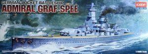 โมเดลเรือประจัญบาน Academy German Graf Spee battleship 1/350
