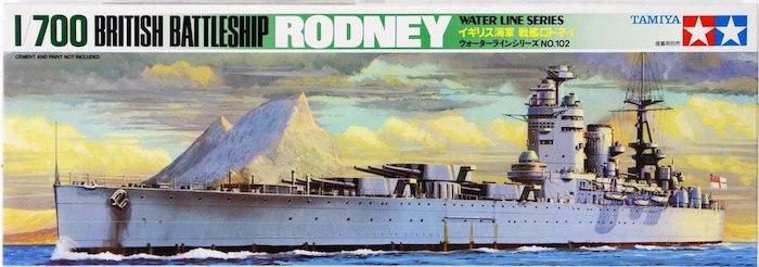 โมเดลเรือทามิย่า TAMIYA 77502 BRITISH RODNEY 1/700