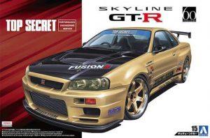 โมเดลรถยนต์นิสสัน TOP SECRET BNR34 SKYLINE GT-R 1/24