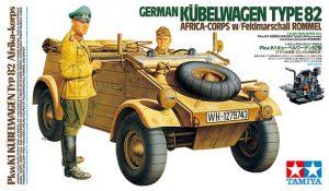 โมเดลรถทหาร German Kubelwagen Type82 Africa Corps 1/16