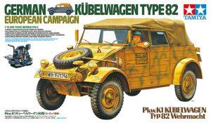 โมเดลรถทหาร Kubelwagen Type 82 European Campaign 1/16