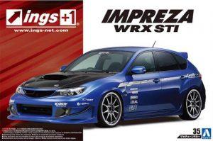 โมเดลรถซุบารุ Subaru Ings GRB Impreza WRX STI '07 1/24