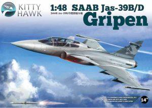 โมเดลเครื่องบินกริพเพ่น SAAB Jas 39 B/D 1/48โมเดลเครื่องบินกริพเพ่น SAAB Jas 39 B/D 1/48