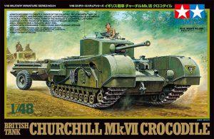 โมเดลรถถังเชอร์ชิวล์ Churchill Mk.VII Crocodile 1/48