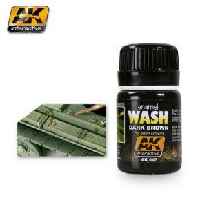 จำหน่าย สีทำคราบตัดเส้น AK45 DARK BROWN WASH FOR GREEN VEHICLES