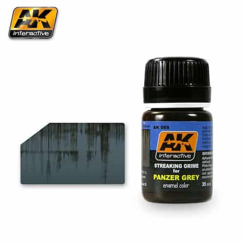 จำหน่าย สีทำคราบรถถังแพนเซอร์ AK69 STREAKING GRIME FOR PANZER GREY
