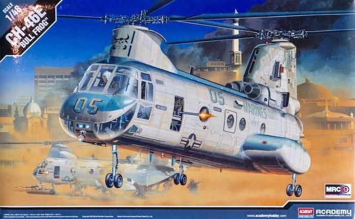 โมเดลเฮลิคอปเตอร์ Academy CH-46 Bull Frog 1/48