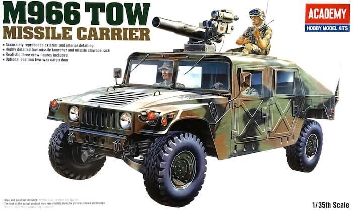 โมเดลรถฮัมวี่ติดจรวด M966 Tow Missle 1/35