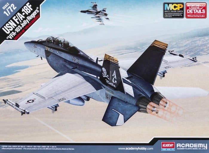 โมเดลเครื่องบิน Academy F/A-18F Super Hornet 1/72 (MCP)