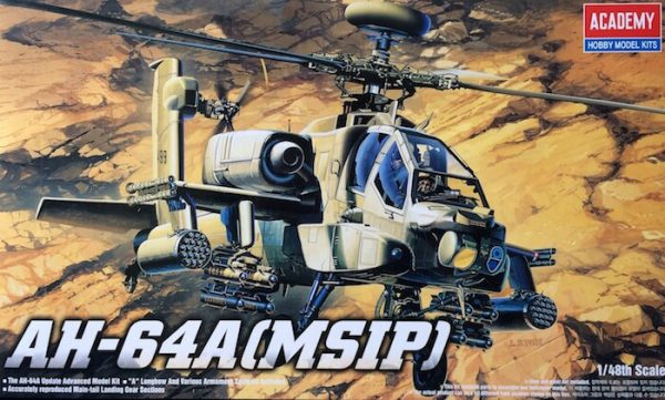 โมเดลเฮลิคอปเตอร์ AC12262 AH-64A APACHE (1/48)