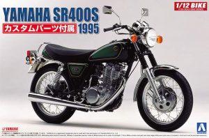 มอเตอร์ไซค์อาโอชิม่า AOSHIMA YAMAHA SR400S with custom parts 1/12