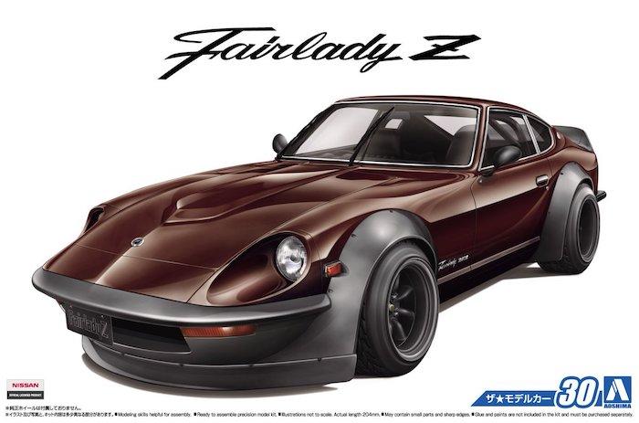 รถอาโอชิม่า AOSHIMA NISSAN S30 FairladyZ AERO CUSTOM 1/24