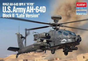 โมเดลเฮลิคอปเตอร์ U.S.Army AH-64D Block II late version 1/72