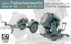 โมเดล GERMAN SW-36 SERCHLIGHT/WITH Sd.Ah.51 1/35