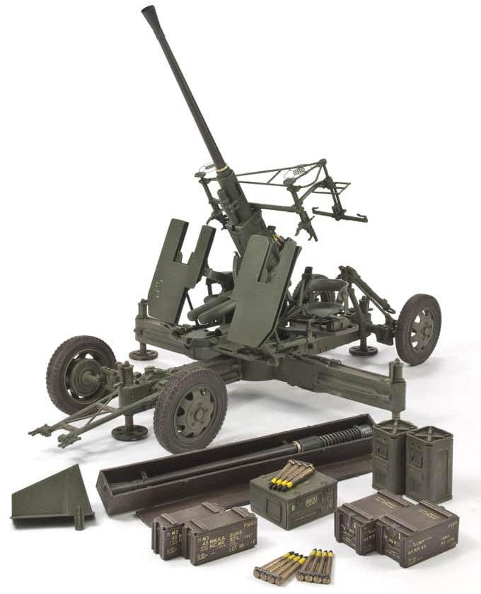 โมเดลปืนใหญ่ BRITISH OF 40 mm.MK.III ANTI-AIRCRAFT GUN 1/35