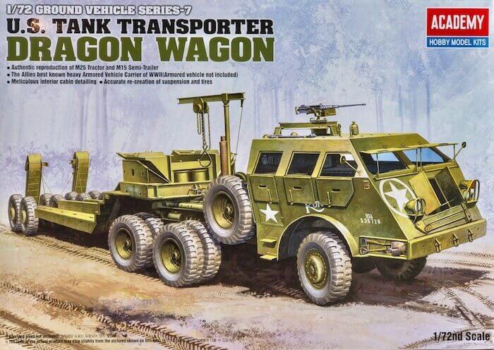 โมเดลรถขนลากรถถัง U.S.TANK TRANSPORTER DRAGON WAGON 1/72