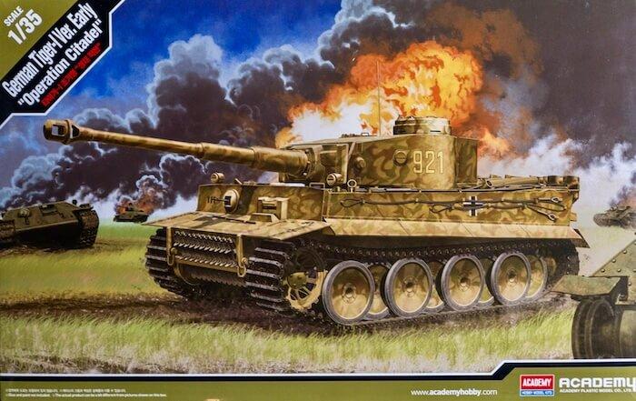 โมเดลรถถังไทเกอร์ German Tiger-1 Ver.Early Operation Citadel 1/35