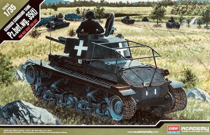 โมเดลรถถัง Pz.Bef.Wg.35(t) Command Tank 1/35