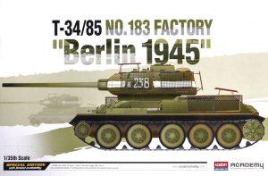 โมเดลรถถังโซเวียต T-34/85 No.183 Factory Berlin 1945 (1/35)