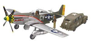 โมเดลเครื่องบิน P51-D Mustang & Staff Car 1/48