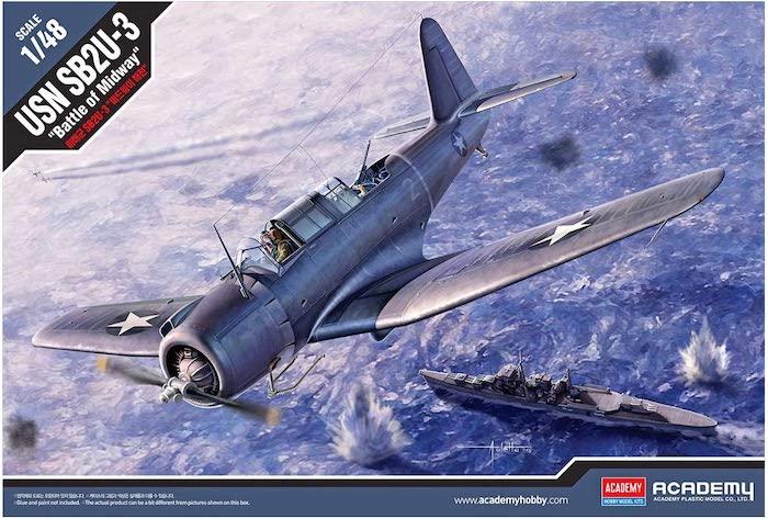 โมเดลเครื่องบิน Academy 12324 USN SB2U-3 Battle of Midway 1/48