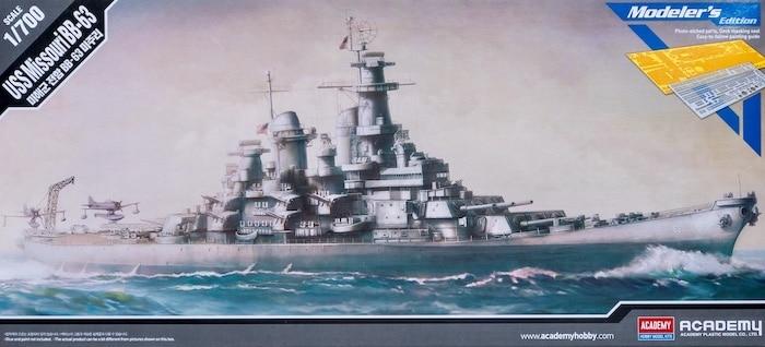โมเดลเรือมิชชูรี่ USS Missouri BB 63 1/700 (เต็มลำ)