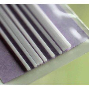 พลาสติกเส้น (ทรงเหลี่ยม) PLASTIC BEAMS 1mm SQUARE (10 ชิ้น.)