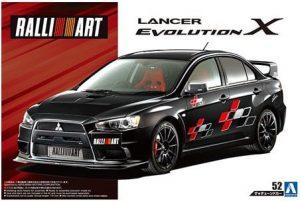 โมเดลรถอีโว RALLIART CZ4A LANCER EVOLUTION X '07 (1/24)