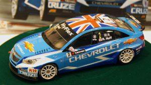 โมเดลรถเชพโรเลต CHEVROLET CRUZE (1.6T) 2012 WTCC 1/24