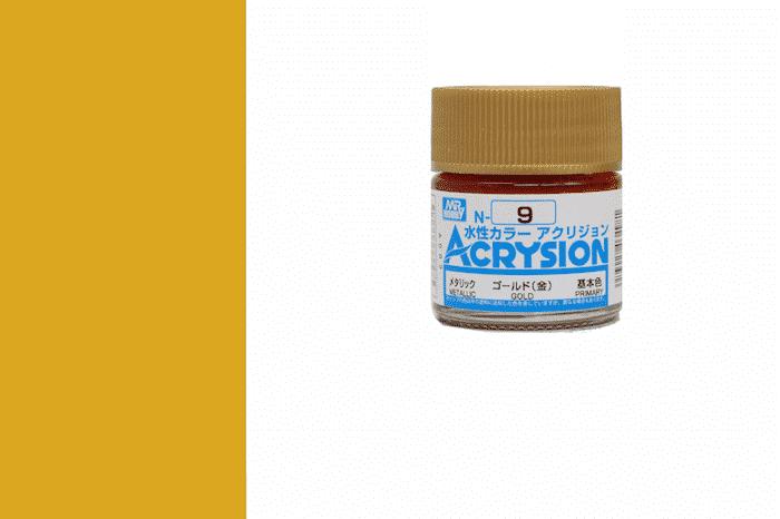 สีสูตรน้ำ Acrysion N9 gold