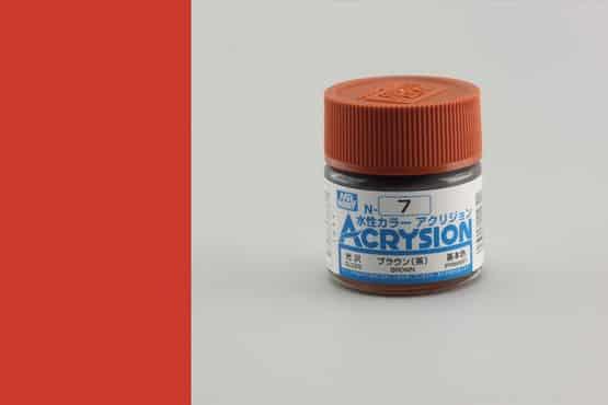 สีสูตรน้ำ Acrysion N7 brown