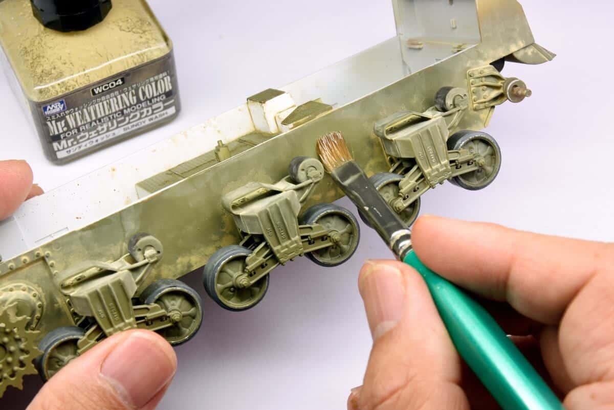จำหน่าย น้ำยาตัดเส้น ทำคราบ panal line weathering สำหรับงานโมเดล