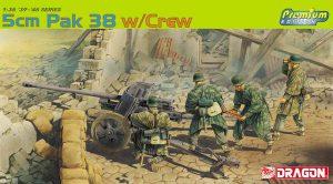 โมเดลฟิกเกอร์ Dragon DR6444 5cm PAK 38 w/CREW 1/35