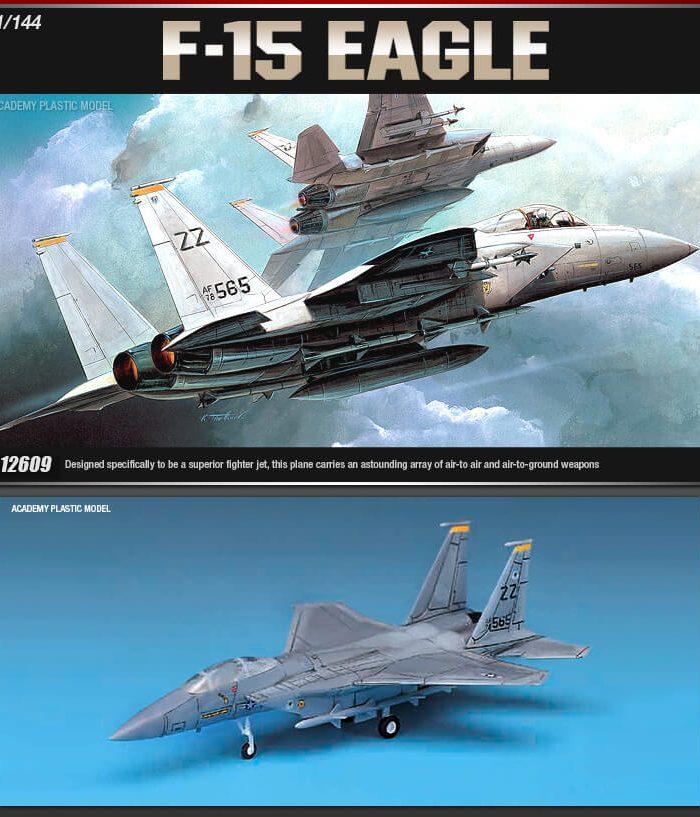 โมเดลเครื่องบิน ACADEMY AC12609 F-15 EAGLE (1/144)