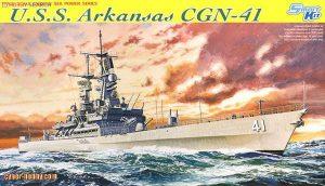 โมเดลเรือรบ Dragon DGM7124 U.S.S. Arkansas CGN-41 1/700