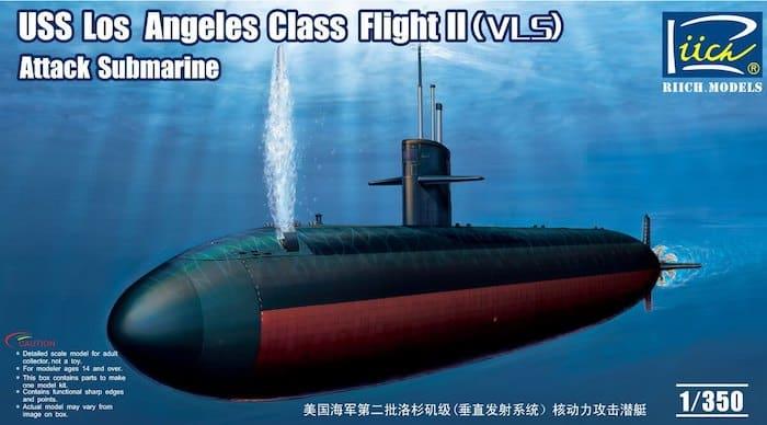 โมเดลเรือดำน้ำ USS Los Angeles Class Flight II (VLS) 1/350