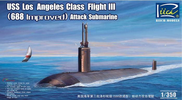 โมเดลเรือดำน้ำ USS Los Angeles Class Flight III (688 Improved) 1/350