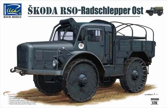 โมเดลรถบรรทุก Ŝkoda RSO - Radschlepper Ost