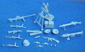 โมเดลชุดอาวุธ WW2 British & Commonwealth Weapon Set A