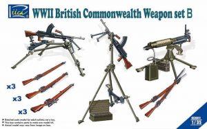 โมเดลชุดอาวุธ WW2 British & Commonwealth Weapon Set B