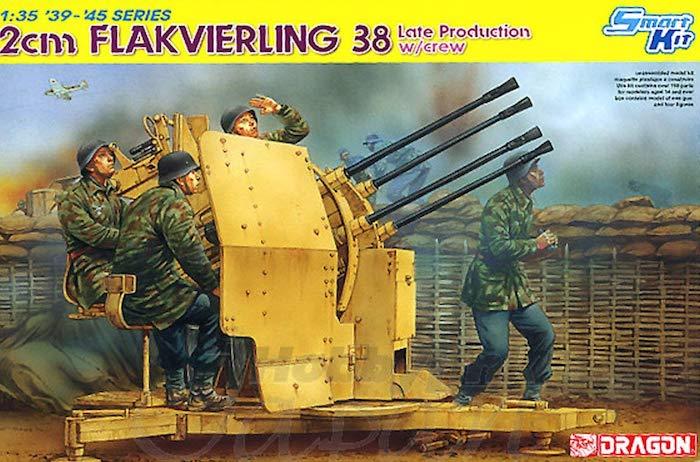 โมเดลทหาร Dragon DR6547 2cm Flakvierling 38 Late 1/35