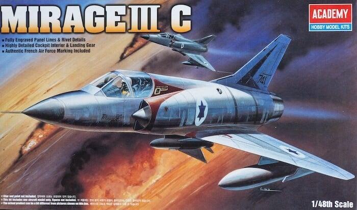 โมเดลเครื่องบิน MIRAGE IIIC FIGHTER (1/48)