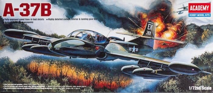 โมเดลเครื่องบิน A-37B DRAGONFLY (1/72)