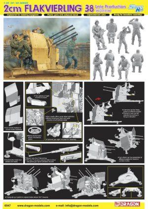 โมเดลปตอ. 20 ม.ม. 2cm Flakvierling 38 Late Production w/Crew 1/35