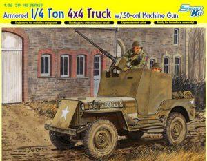 โมเดลรถทหาร Dragon DRA6714 1/4-Ton 4X4 Armored Truck 1/35