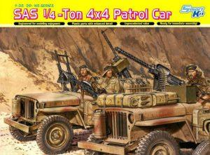 โมเดลรถทหาร Dragon DR6745 SAS 1/4-Ton 4x4 Patrol Car 1/35