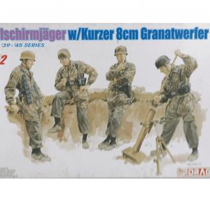 โมเดลฟิกเกอร์ทหาร FJ 8cm GR.W.42 MORTAR TEAM (1/35)