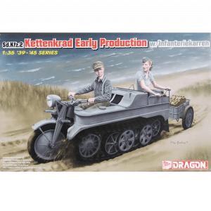 โมเดลมอเตอร์ไซด์ทหาร Sd.kfz. 2 Keines Kettenkraftrad Early (1/35)